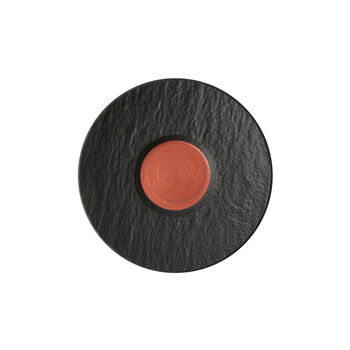 Manufacture Rock Glow sous-tasse à café au lait, cuivre/noire 17x17x2cm