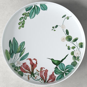 Avarua Gifts coupe à servir/décorative, 33cm, blanche/multicolore