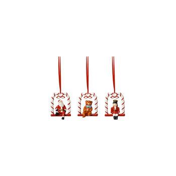 Nostalgic Ornaments Ornamente Harlekin,Teddy und Santa 3tlg.