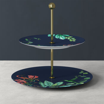 Avarua Gifts présentoir, 27,5x26,7cm, bleu/multicolore