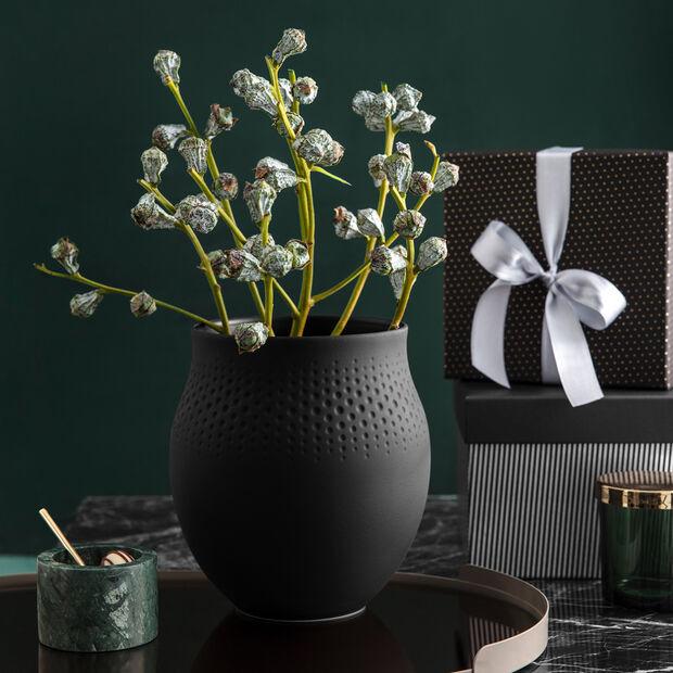 Manufacture Collier noir Vase Perle grand 16,5x16,5x17,5cm, , large