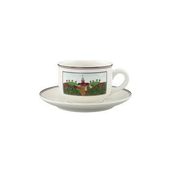 Design Naif Tasse à thé avec soucoupe 2pcs