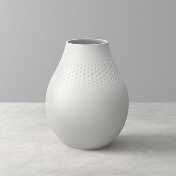 Manufacture Collier blanc Vase Perle haut 16x16x20cm