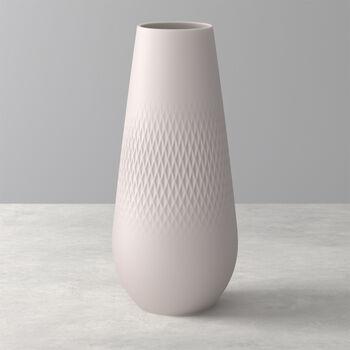 Manufacture Collier Vase, 11,5x26cm, Carré, Beige