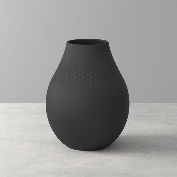 Manufacture Collier noir Vase Perle hoch 16x16x20cm, , large