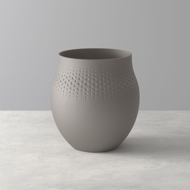 Manufacture Collier Vase, 16,5x18cm, Perle, Taupe, , large