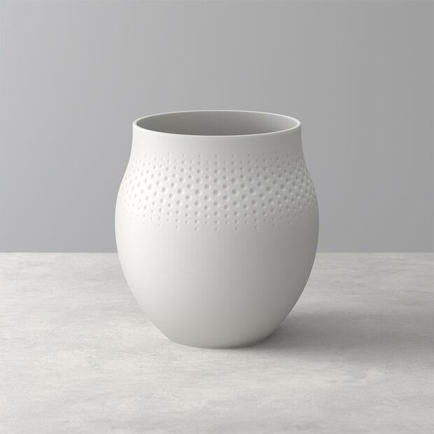 Manufacture Collier blanc Vaso Perle grande 16,5x16,5x17,5cm, , large