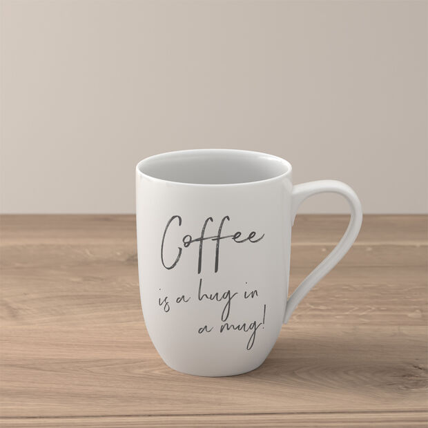 """Statement Becher """"Coffee is a hug in a mug"""", , large"""