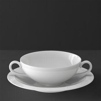 White Pearl Tasse et soucoupe bouillon 2pcs