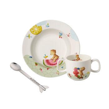Hungry as a Bear Set di stoviglie per bambini, 3pz