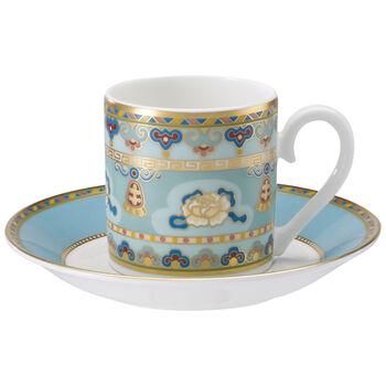 Samarkand Aquamarin Tazza espresso con piattino 2pz.