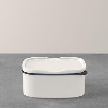 ToGo&ToStay Lunchbox, 13x10x6cm, eckig, weiß