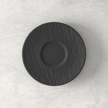Manufacture Rock sous-tasse, noire/grise, 15,5x15,5x2cm