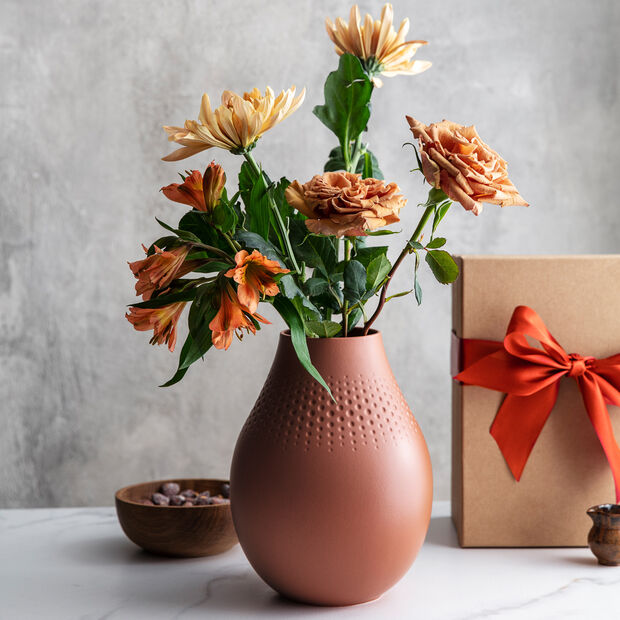 Manufacture Collier terre hohe Vase, Perle, 16x16x20cm, , large
