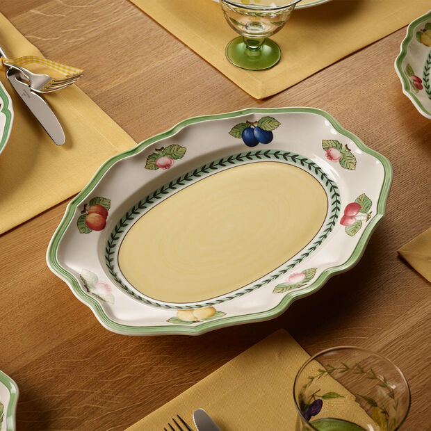 French Garden Fleurence plat ovale 37cm, , large