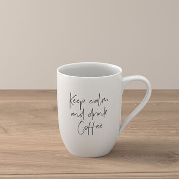 """Statement Tazza """"Keep calm and drink coffee"""""""