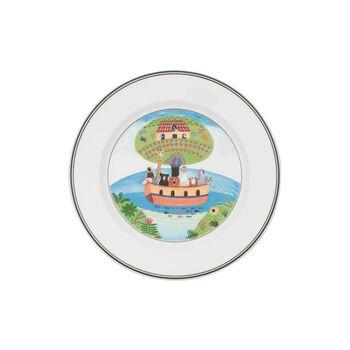 Design Naif assiette à dessert motif arche de Noé