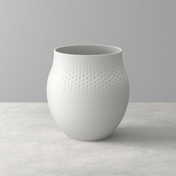 Manufacture Collier blanc Vase Perle groß 16,5x16,5x17,5cm