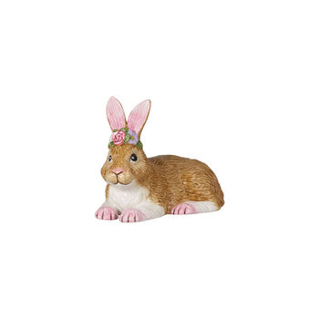 Easter Bunnies coniglio piccolo sdraiato, marrone/rosa