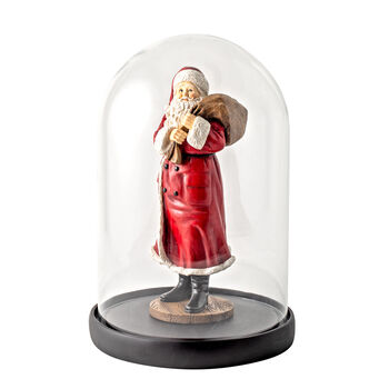 Winter Collage Accessoires Père Noël Bell avec sac et ours 10,2x10,2x26,4cm