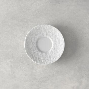 Manufacture Rock blanc Piattino tazza espresso 12x12x2cm
