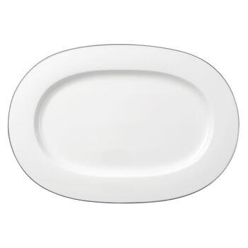 Anmut Platinum No.1 ovale Platte 41 cm