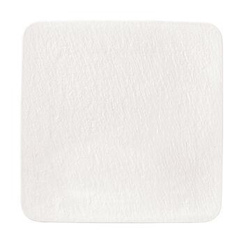 Manufacture Rock Blanc plat à servir/assiette gourmet carré(e), blanc(he), 32,5x32,5x1,5cm