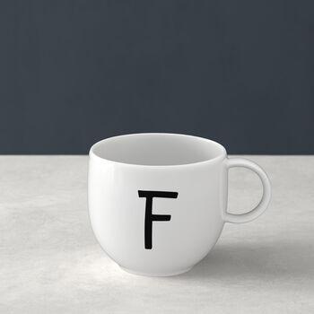 Mug Letters F 13x10x8cm