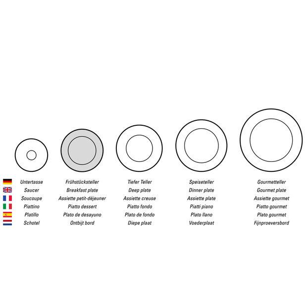 Design Naif assiette à dessert motif poulailler, , large