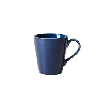 Organic Dark Blue Becher mit Henkel, dunkelblau, 350 ml