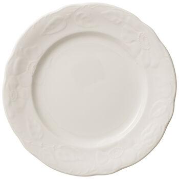 Rose Sauvage blanche Frühstücksteller