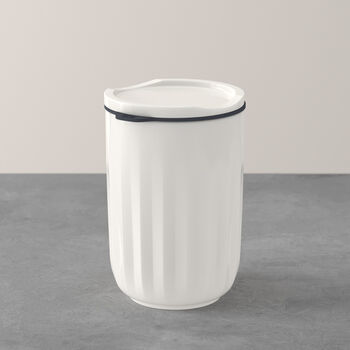 To Go & To Stay mug, avec couvercle, 450ml, blanc