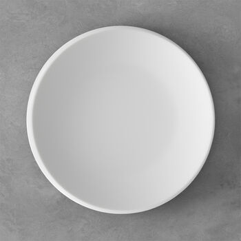 NewMoon piatto piano, 27 cm, bianco