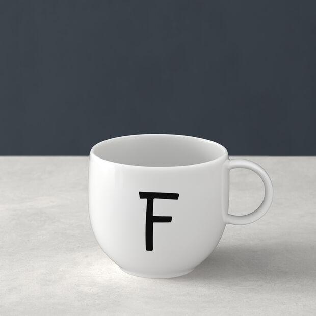 Mug Letters F 13x10x8cm, , large