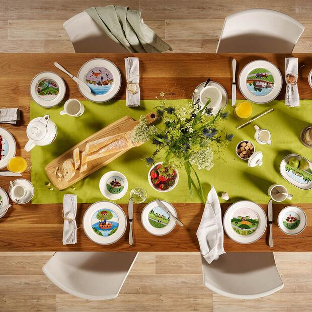 Design Naif assiette à dessert motif chasseur, , large