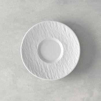 Manufacture Rock Blanc piattino per tazza da caffè, bianco, 15,5 x 15,5 x 2 cm