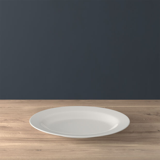 Twist White Plat ovale 34cm, , large