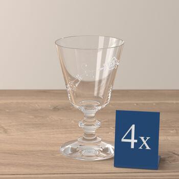 Vieux Luxembourg verre à vin blanc, 4pièces
