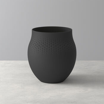 Manufacture Collier noir Vase Perle grand 16,5x16,5x17,5cm