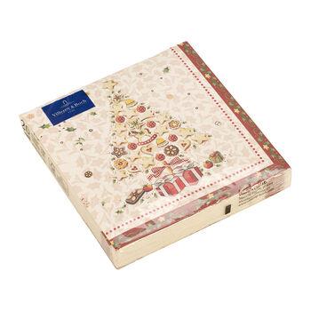 Winter Specials Bakery tovagliolo da pranzo, motivi sparsi, bianco/multicolore, 20 pezzi, 33 x 33 cm