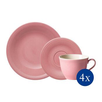 Color Loop Rose set da caffè, rosa, 12 pezzi