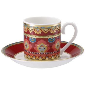 Samarkand Rubin Tazza espresso con piattino 2pz.