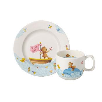 Happy as a Bear Set da colazione per bambini, 2pz
