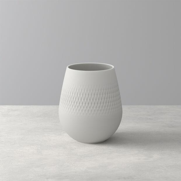 Manufacture Collier blanc Vase Carré klein 12,5x12,5x14cm, , large