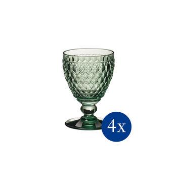 Boston Coloured verre à vin blanc, 4pièces, vert
