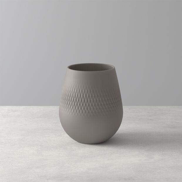 Manufacture Collier Vase, 12x15cm, Carré, Taupe, , large