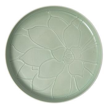 it's my home vassoio Socculent, 34 cm, verde/bianco
