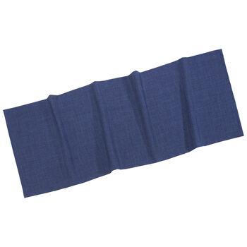 Textil Uni TREND Chemin de table bleu fon. 50x140cm