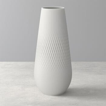 Manufacture Collier blanc Vase Carré hoch 11,5x11,5x26cm