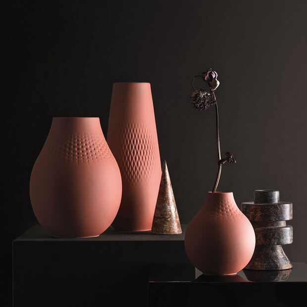 Manufacture Collier terre Vase Perle haut 16x16x20cm, , large